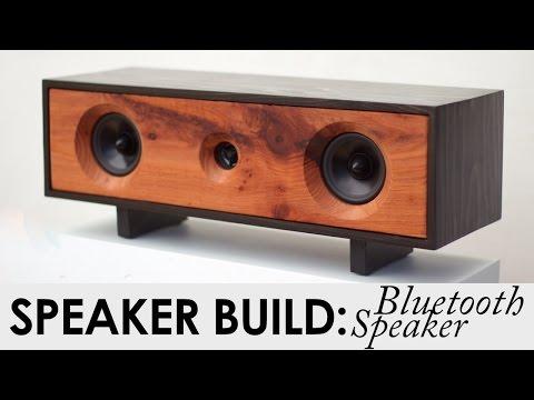 DIY Bluetooth Speaker Build | BUILD PLANS | Reclaimed Redwood Speaker