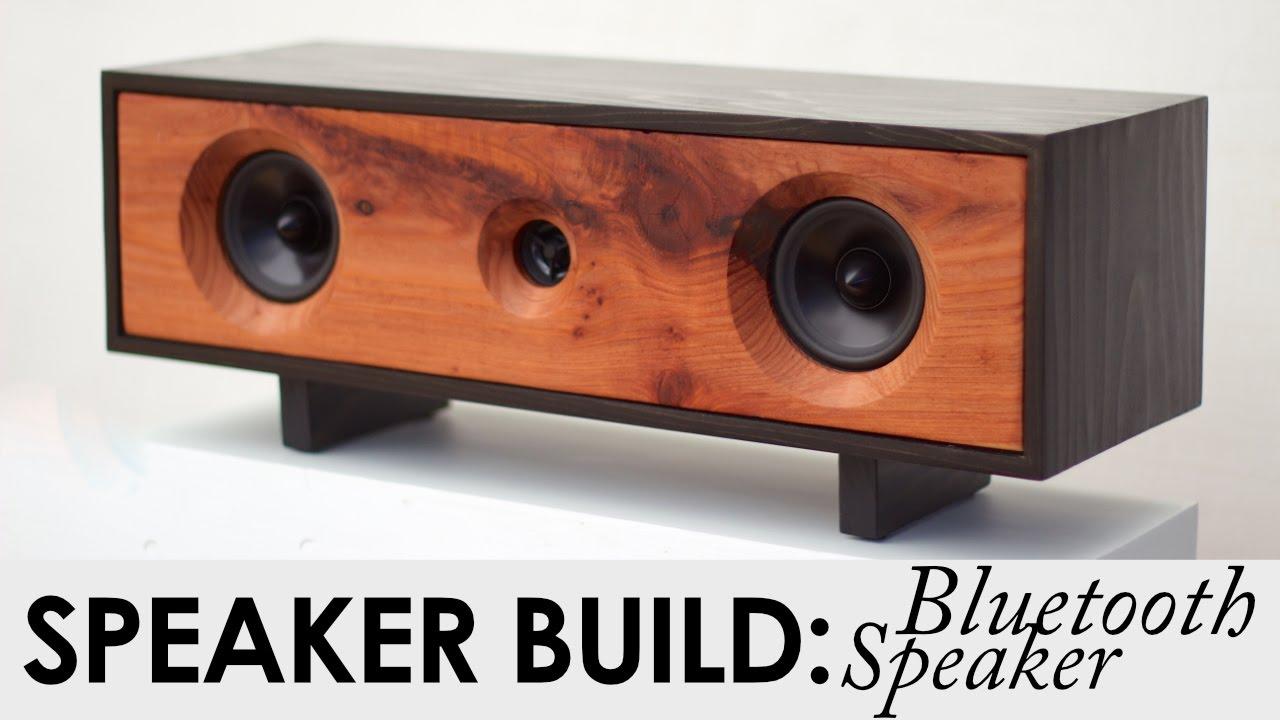 DIY Bluetooth Speaker Build | BUILD PLANS | Reclaimed Redwood Speaker - YouTube