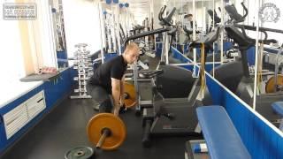 """Становая тяга. Видео. Как справится с загибом спины и не тянуть """"горбом"""""""