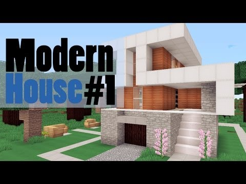 1 little modern house minecraft youtube for Minecraft modern house 9minecraft