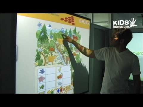 Interactive learning content for interactive whiteboards in primary schools