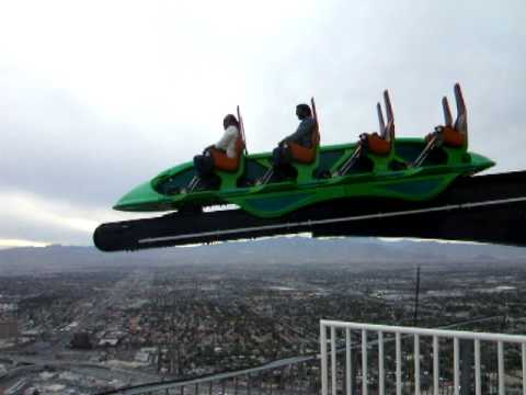 Roller Coaster Videos: Stratosphere X Scream Ride - YouTube