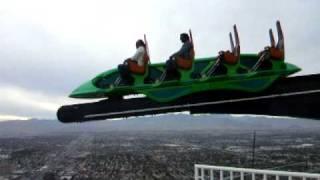 Roller Coaster Videos: Stratosphere X Scream Ride