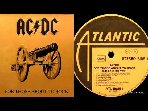 AC/DC – For Those About To Rock (Vinyl, LP, Album) 1981.