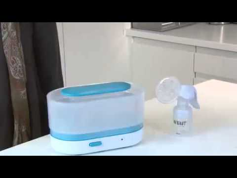 Philips Avent Sterilizator electric cu aburi 3 in 1 - YouTube