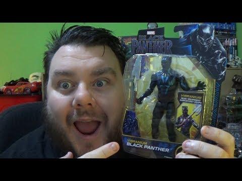 Marvel Vibranium Black Panther Basic Hasbro Movie Action Figure Review
