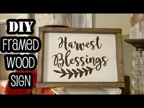 Framing A Wood Sign