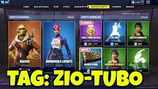 SHOP FORTNITE today April 6th raPACE skin, LUCENTE BOMBAROLO and new coverage OF GOLD