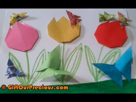 Origami 3d Butterfly Simple And Easy Diy Paper Folding Art Craft