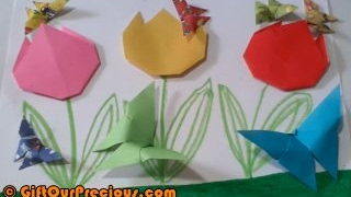 Origami 3D Butterfly - Simple and Easy DIY Paper Folding Art Craft Work for Children and Everybody