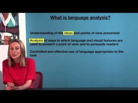 VCE English - What is language analysis?