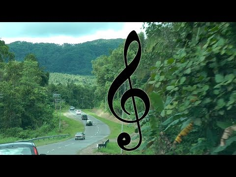 Driving in Malaysia night & day | Electronic Bach Orchestral Suite No. 3 in D Major