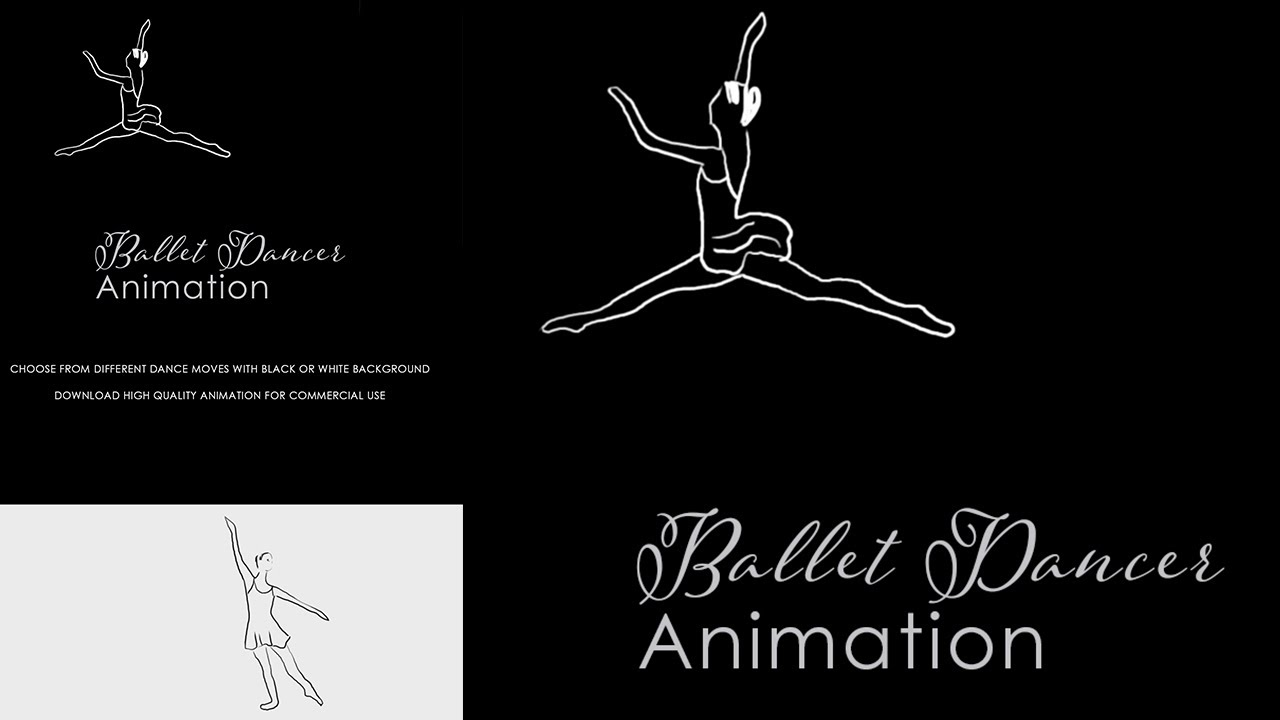 Hand Draw Animation Of Dance White Background