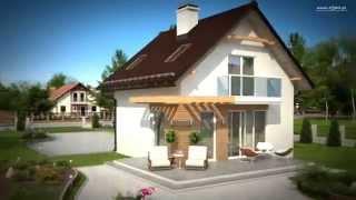 видео «Сириус» - современный мансардный дом (595B), Alfaplan.ru