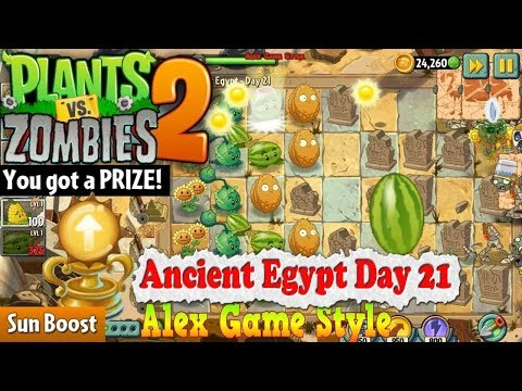 Plants vs. Zombies 2 || Prize - Sun Boost || Ancient Egypt Day 21 (Ep.27)