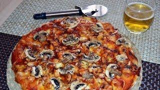 Barbecue Chicken & Mushroom Pizza