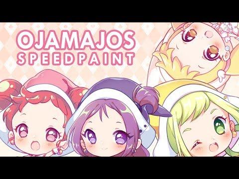 Ojamajo Keychains【SAI - Speedpaint】