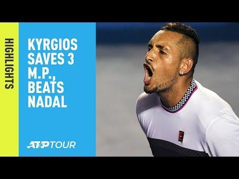 Highlights: Kyrgios Beats Nadal In Thriller At Acapulco 2019