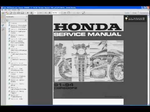 Honda cbr600f manual.