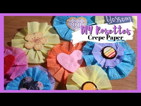 DIY Crepe Paper Rosettes | Cluttered Crafter