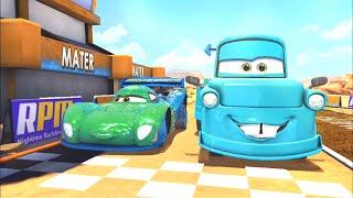 Disney Pixar Cars Fast as Lighting - Tokyo Mater vs Carla