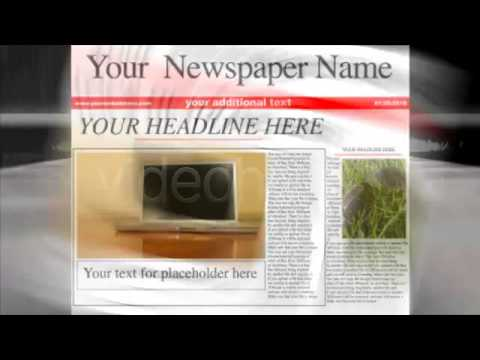 After Effects Template : Newspaper Headlines - Youtube