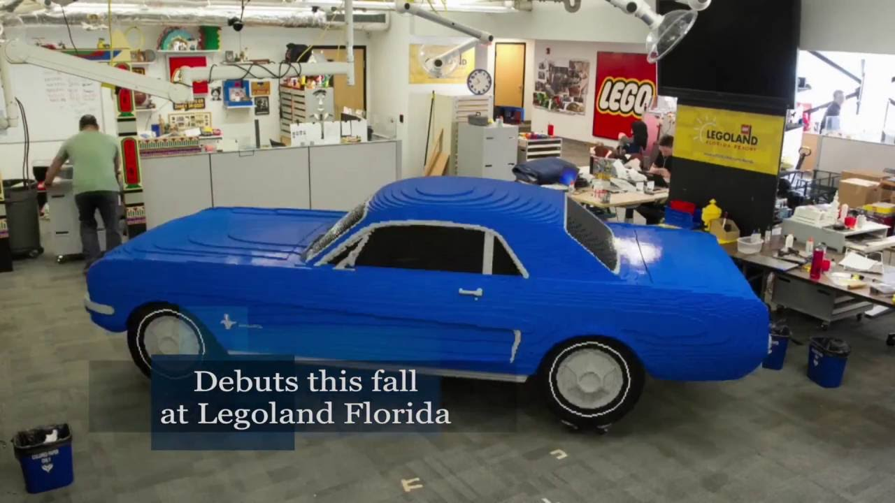 time lapse of ford mustang being built for legoland florida - youtube