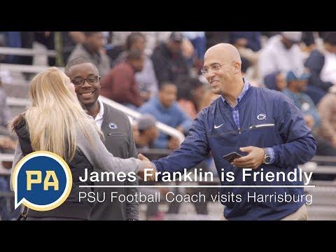Penn State Head Football Coach James Franklin is Really Friendly