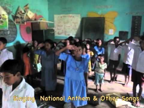 Orissa Tribal School and Villiage - Children Singing