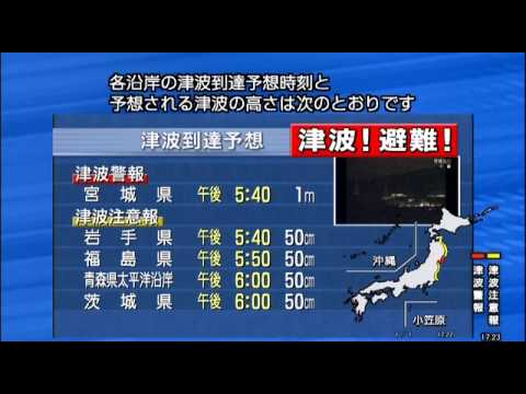 Japanese Tsunami Warning in English