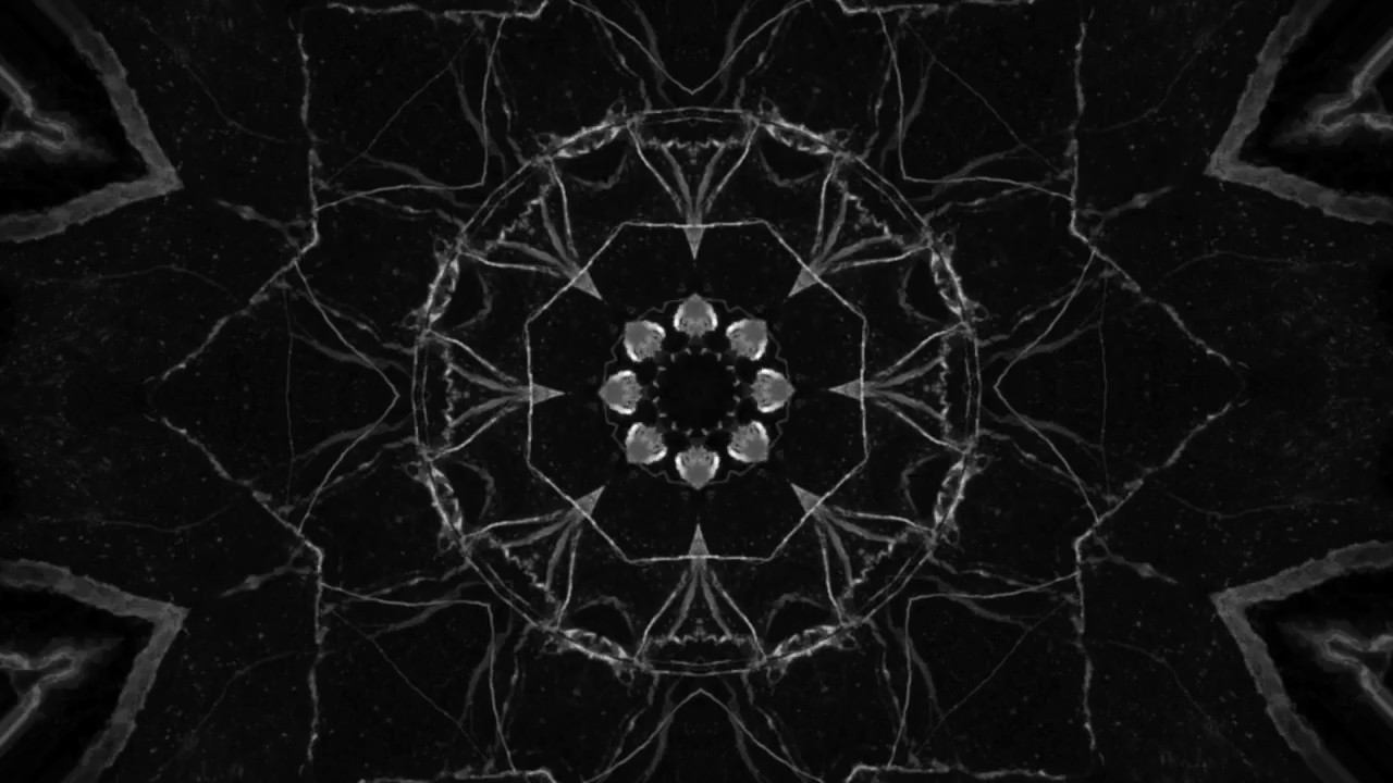 Black And White Marble Kaleidoscope Footage