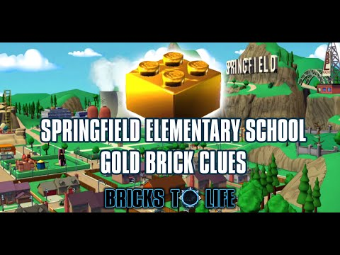 Springfield Elementary Gold Brick Hunt - The Simpsons Adventure World - Lego Dimensions