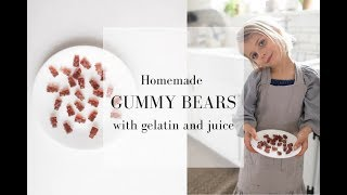 Homemade Gummy Bears with Juice and Gelatin| Immune Boosting Gummies