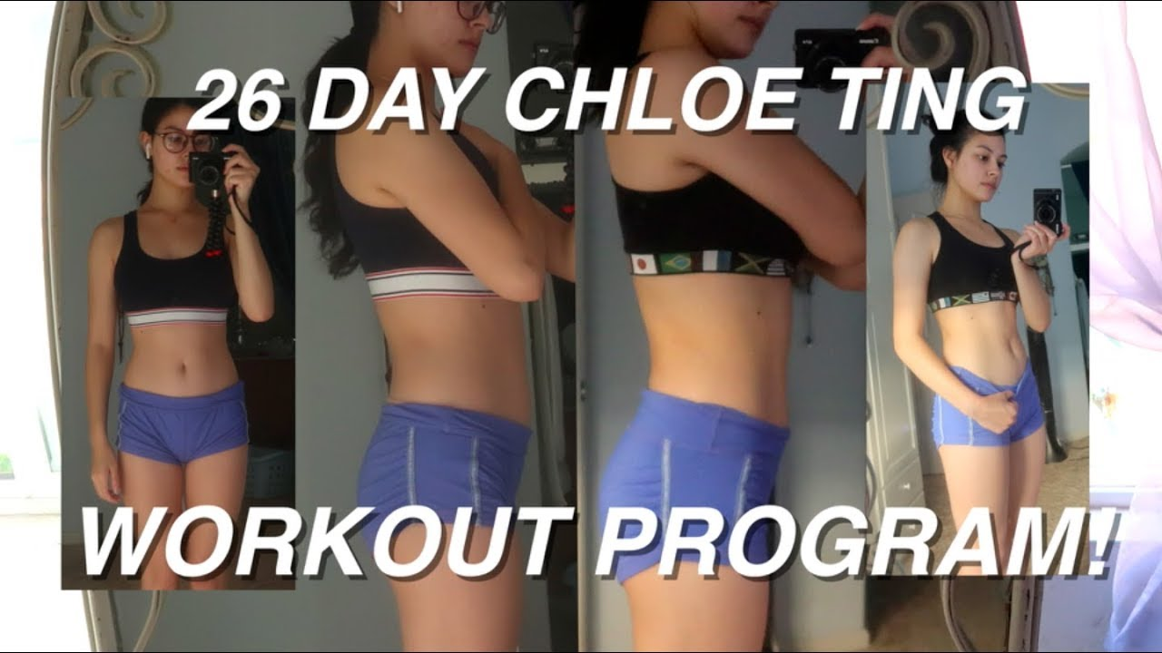 following a Chloe Ting workout program for 26 days! - YouTube