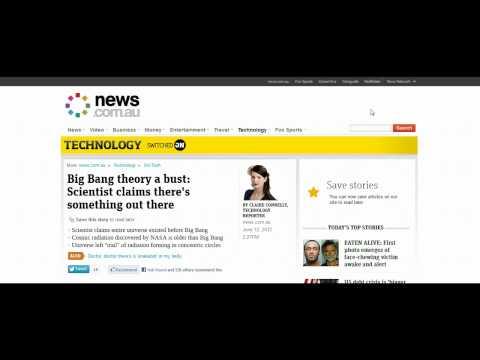 Oxford Scientist Debunks Big Bang Theory (13th June 2012)