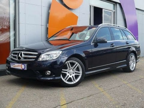2009 mercedes benz c320 cdi sport estate blue for sale in hampshire youtube. Black Bedroom Furniture Sets. Home Design Ideas