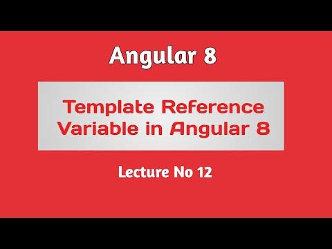 Angular 8 Tutorial - Part 12 -  Template Reference Variable in Angular 8 thumbnail