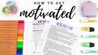 How to get motivated | study motivation tips