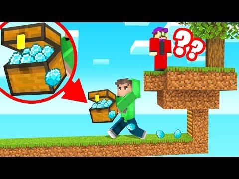 STEALING My Friends DIAMONDS In SKYBLOCK! (Minecraft)