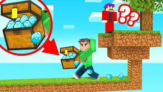 STEALING My Friends DIAMONDS In SKYBLOCK! (Minecraft)