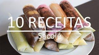 10 RECEITAS DE GELADINHO | DINDIN GOURMET CREMOSO | SACOLÉ |
