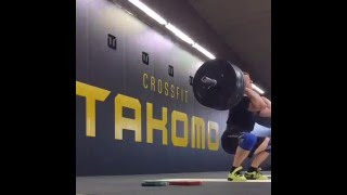 Squat Clean @120kg Slow motion at Crossfit® Takomo