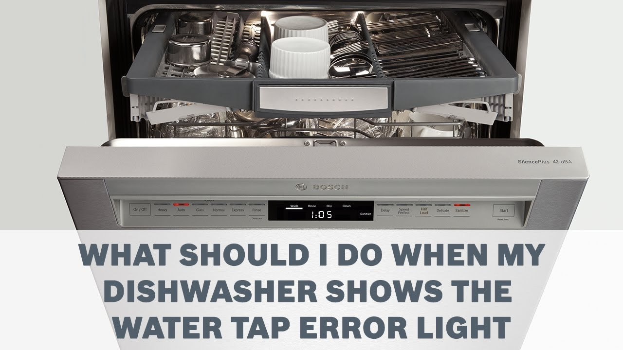 What Should I Do When My Dishwasher Shows The Water Tap Error Light First Of All Start Unscrewing Untwisting Unclipping Your Old Cleaning Care