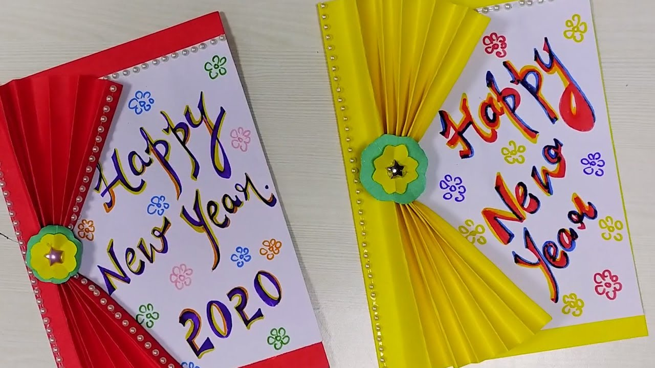 make simple greeting cards at home  happy new year