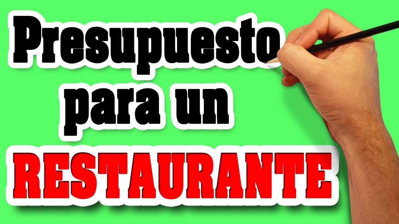 Presupuesto para un restaurante equipo para restaurante for Equipos restaurante