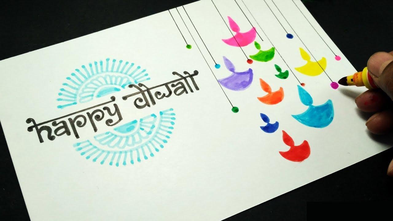 easy diwali card  stepstep  youtube