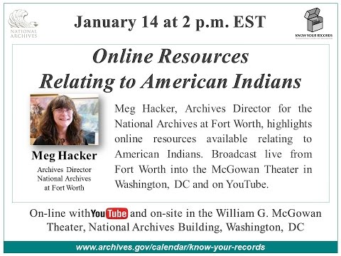 Online Resources Relating to American Indians (2016 Jan. 14)