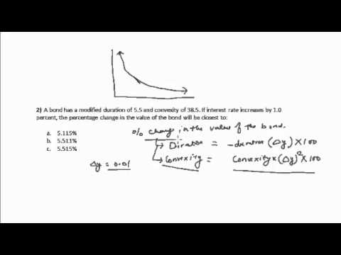 duration and convexity Using both modified duration and convexity to estimate the change in a bond's price due to a given change in yield can be estimated more precisely than with modified duration alone the equation is.