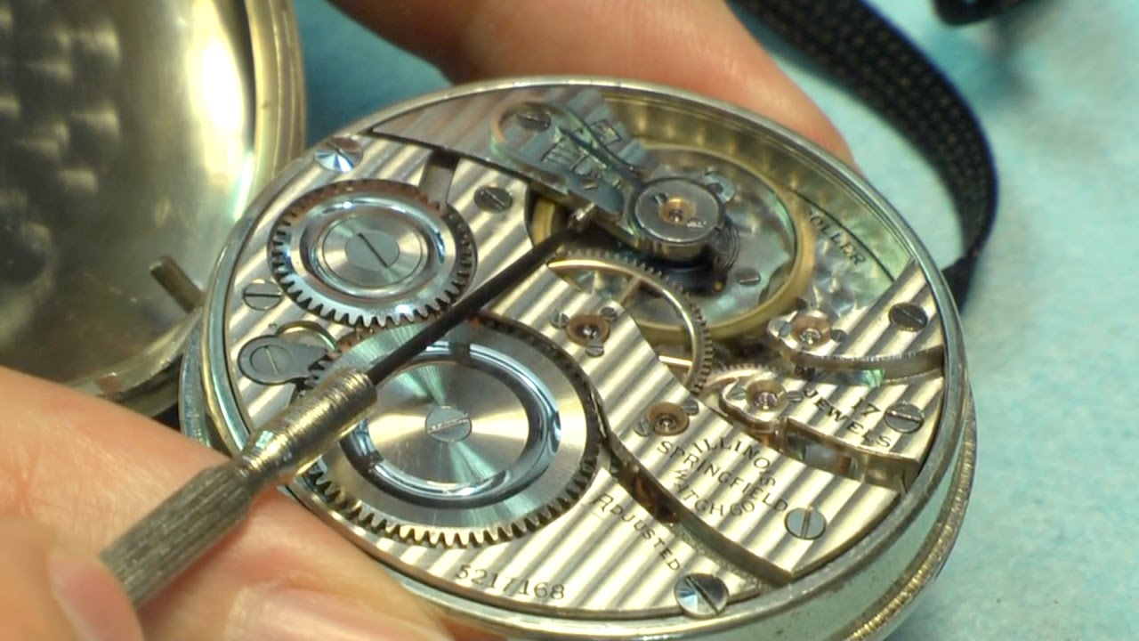 best dating elgin pocket watch movement from its case