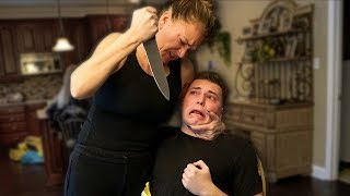 MOTHER DOES THIS TO SON! *CAUGHT ON CAMERA*